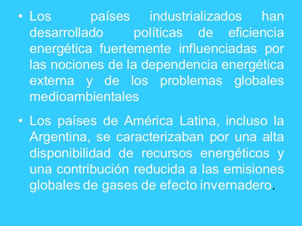 Los países industrializados han desarrollado políticas de eficiencia energética fuertemente influenciadas por las nociones de la dependencia energétic
