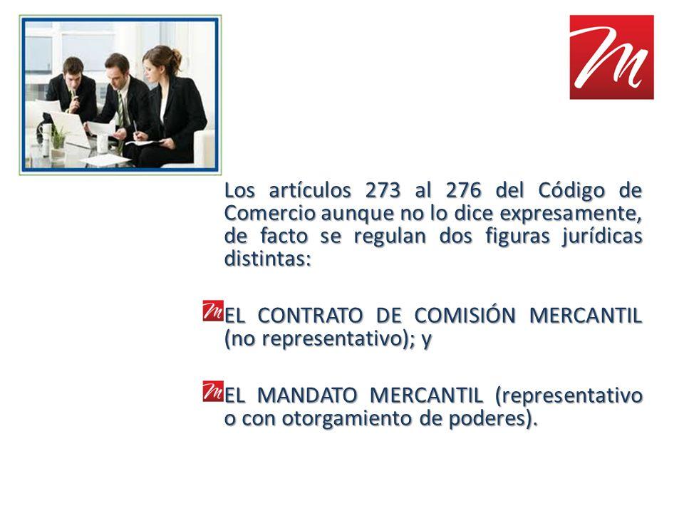Los artículos 273 al 276 del Código de Comercio aunque no lo dice expresamente, de facto se regulan dos figuras jurídicas distintas: EL CONTRATO DE CO