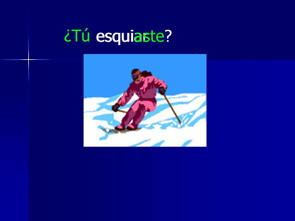 esquiar ¿Tú esquiaste?