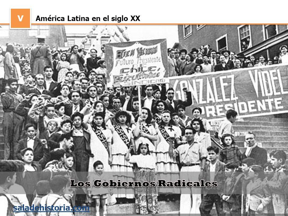 V V América Latina en el siglo XX saladehistoria.com