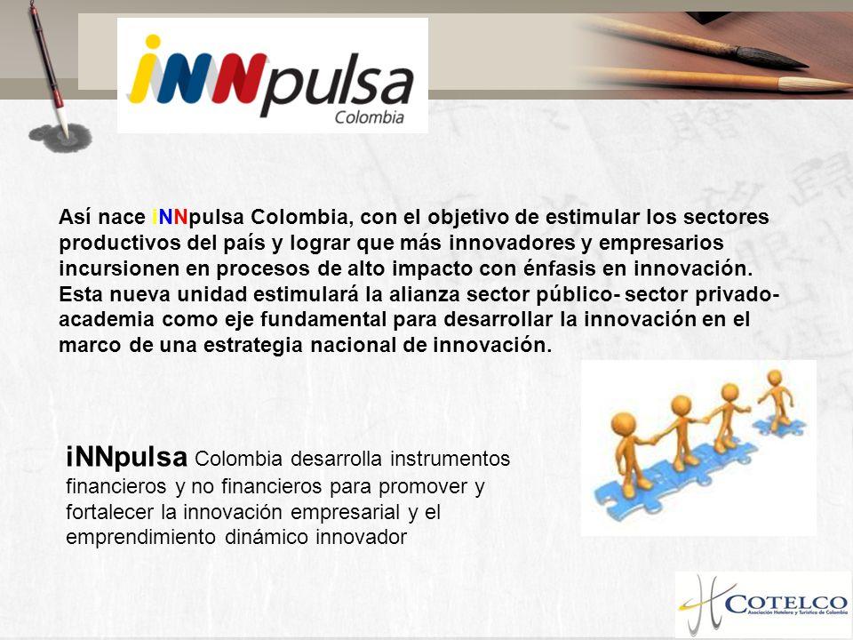 iNNpulsa Colombia desarrolla instrumentos financieros y no financieros para promover y fortalecer la innovación empresarial y el emprendimiento dinámi