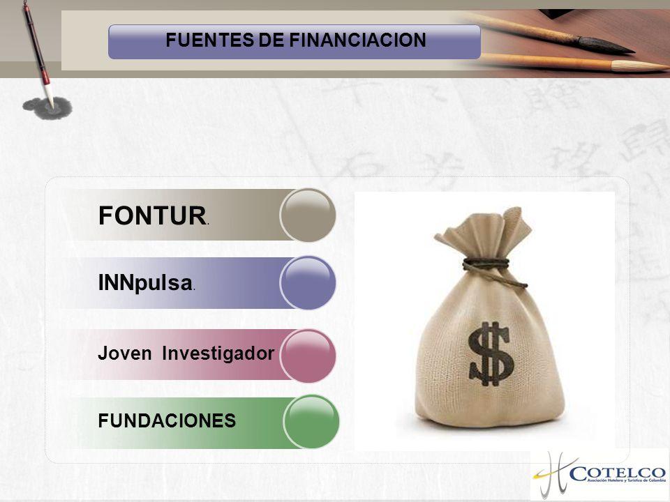 FUENTES DE FINANCIACION FONTUR. INNpulsa. Joven Investigador FUNDACIONES