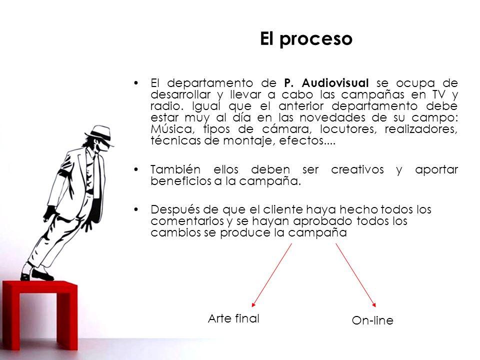 El proceso El departamento de P.