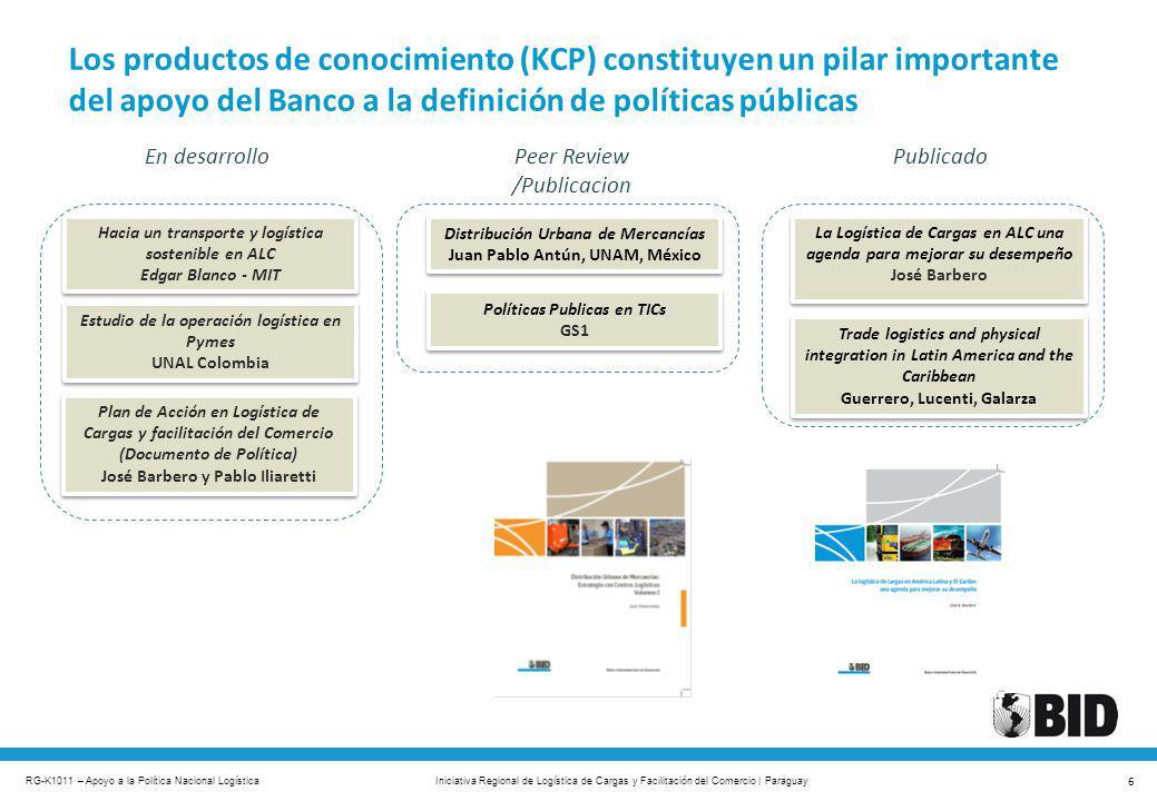 RG-K1011 – Apoyo a la Política Nacional Logística 6 Iniciativa Regional de Logística de Cargas y Facilitación del Comercio | Paraguay Trade logistics