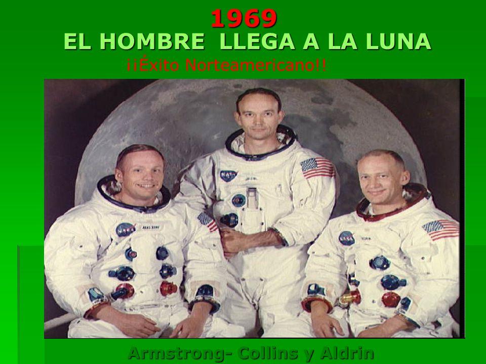EL HOMBRE LLEGA A LA LUNA Armstrong- Collins y Aldrin ¡¡Éxito Norteamericano!!1969