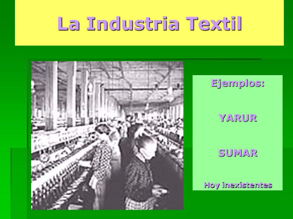 La Industria Textil Ejemplos:YARURSUMAR Hoy inexistentes