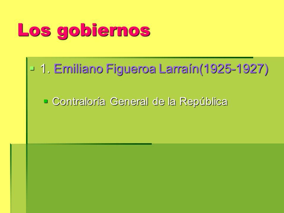 Los gobiernos 1.Emiliano Figueroa Larraín(1925-1927) 1.