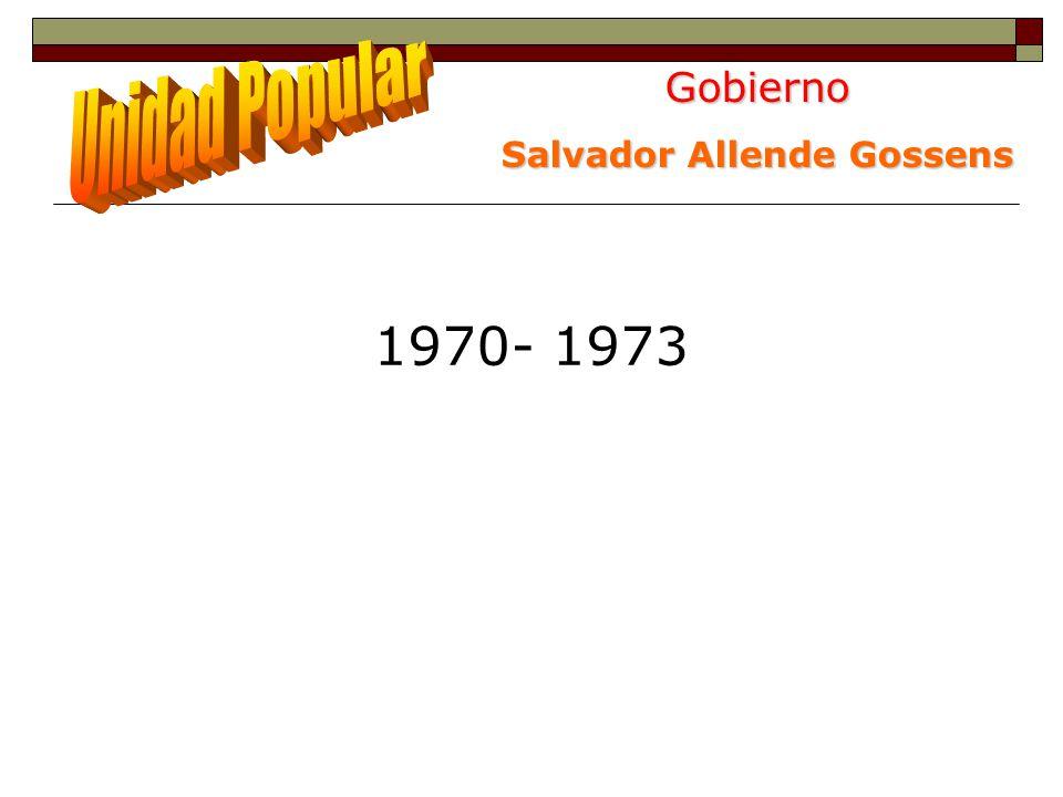 Gobierno Salvador Allende Gossens 1970- 1973