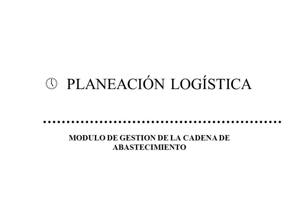 » PLANEACIÓN LOGÍSTICA MODULO DE GESTION DE LA CADENA DE ABASTECIMIENTO