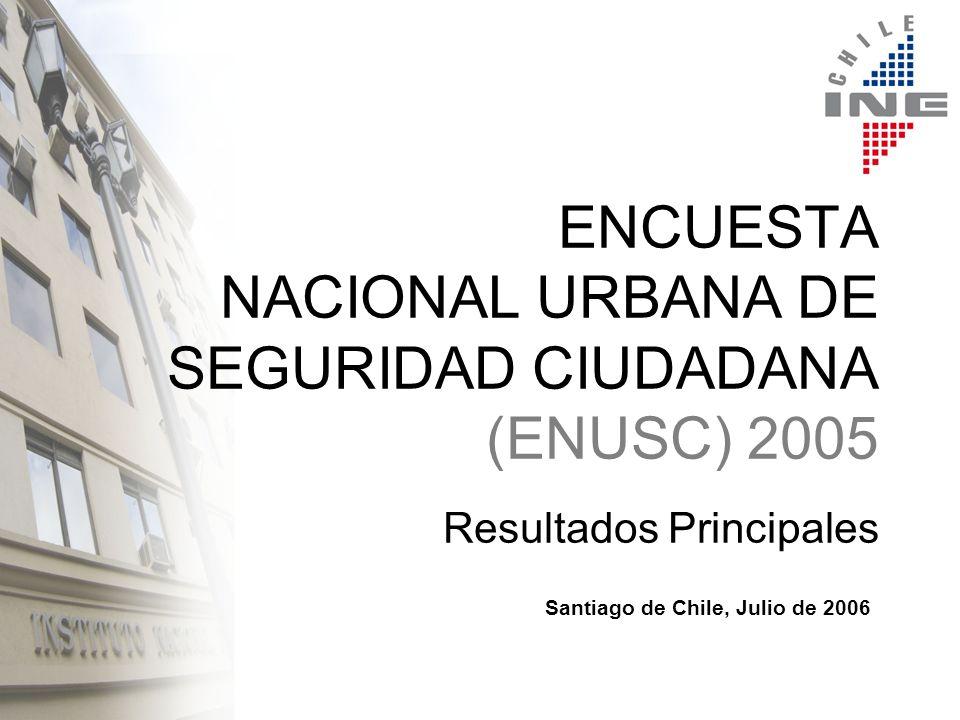 ESQUEMA DE PRESENTACIÓN Antecedentes Generales Objetivos del Estudio Metodología Indicadores 2003-2005 (77 comunas) Resumen General