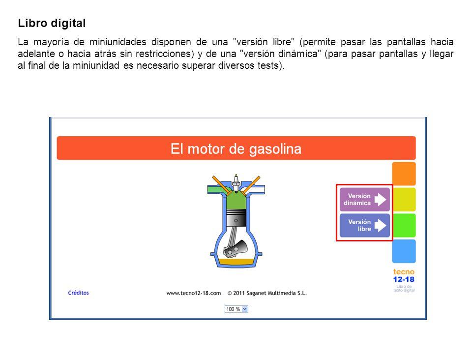 Libro digital Explicaciones sencillas, que se complementan con imágenes y animaciones.