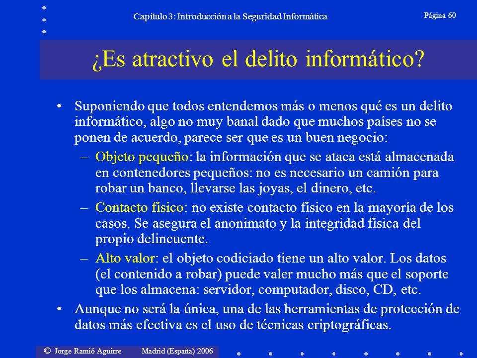 © Jorge Ramió Aguirre Madrid (España) 2006 Página 60 Capítulo 3: Introducción a la Seguridad Informática Suponiendo que todos entendemos más o menos q