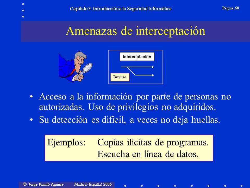 © Jorge Ramió Aguirre Madrid (España) 2006 Página 68 Capítulo 3: Introducción a la Seguridad Informática Acceso a la información por parte de personas