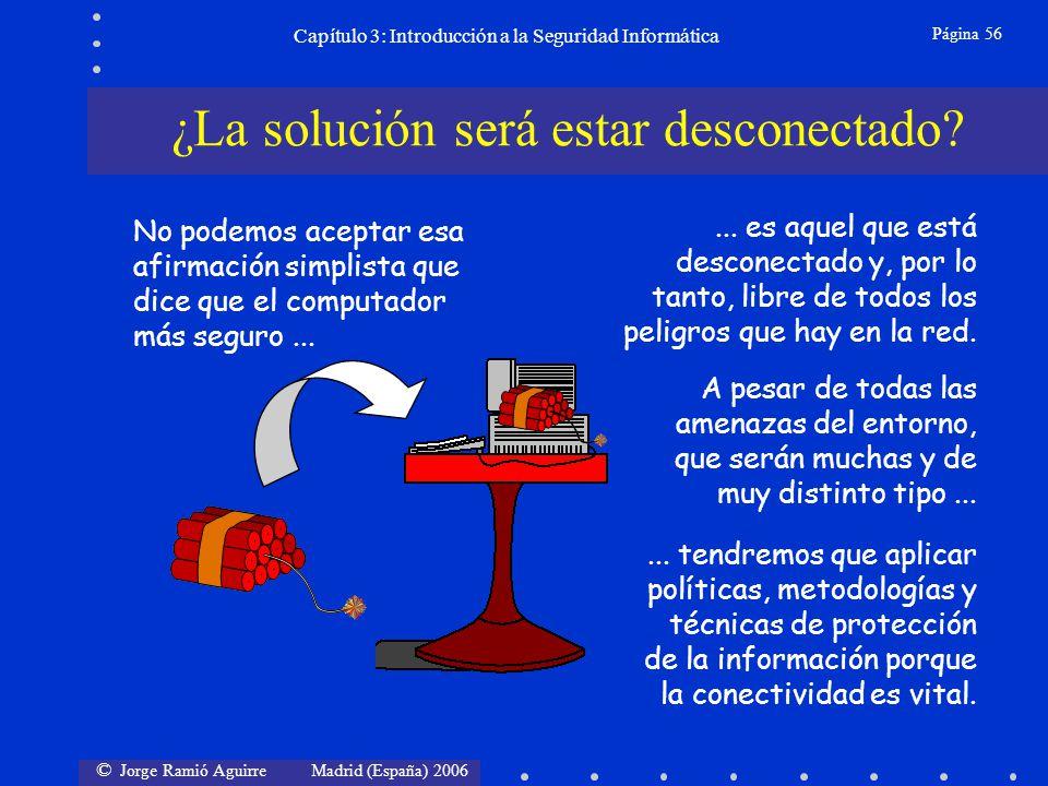 © Jorge Ramió Aguirre Madrid (España) 2006 Página 56 Capítulo 3: Introducción a la Seguridad Informática No podemos aceptar esa afirmación simplista q