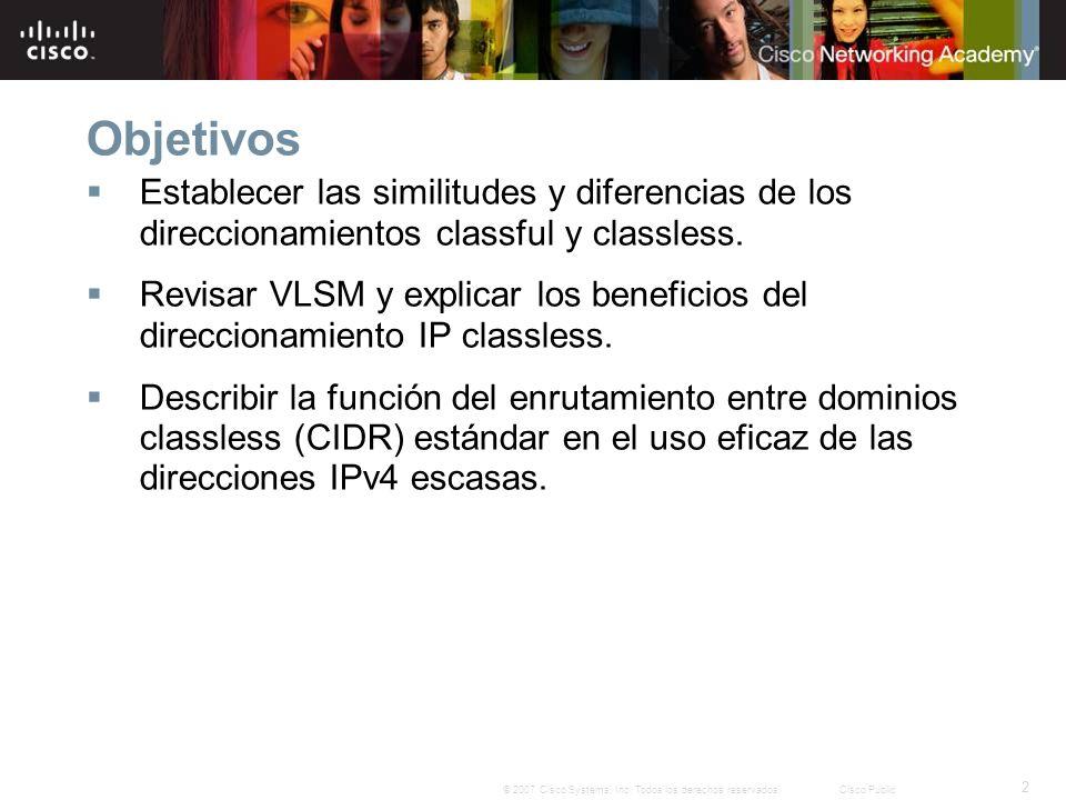 23 © 2007 Cisco Systems, Inc. Todos los derechos reservados.Cisco Public
