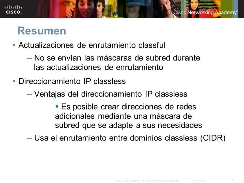 20 © 2007 Cisco Systems, Inc.