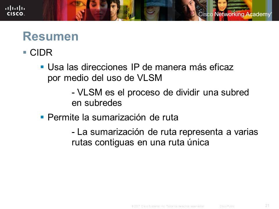 21 © 2007 Cisco Systems, Inc.