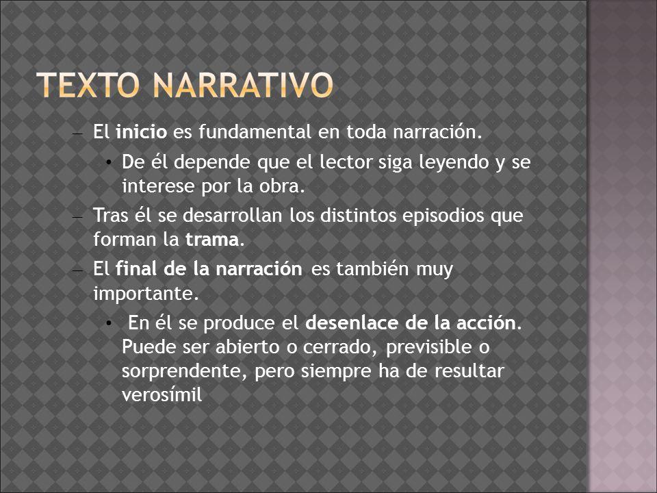 Textualización: – Utilizar los nexos que establecen relación entre los acontecimientos.
