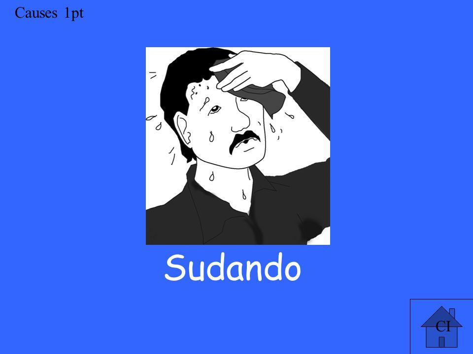 CI Causes 1pt Sudando