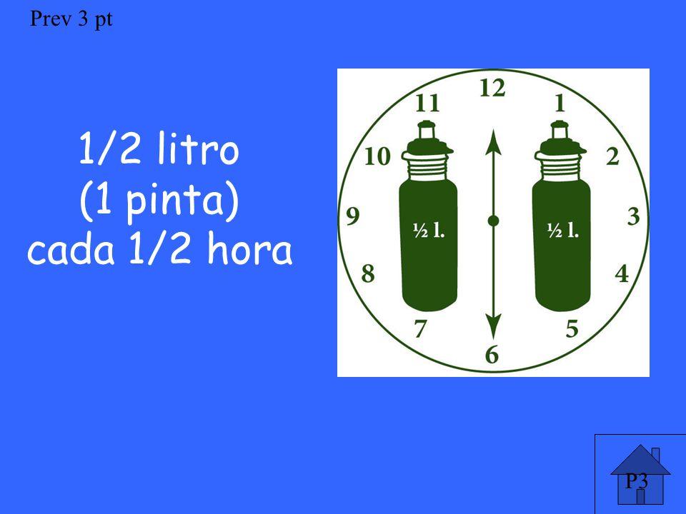 P3 Prev 3 pt 1/2 litro (1 pinta) cada 1/2 hora