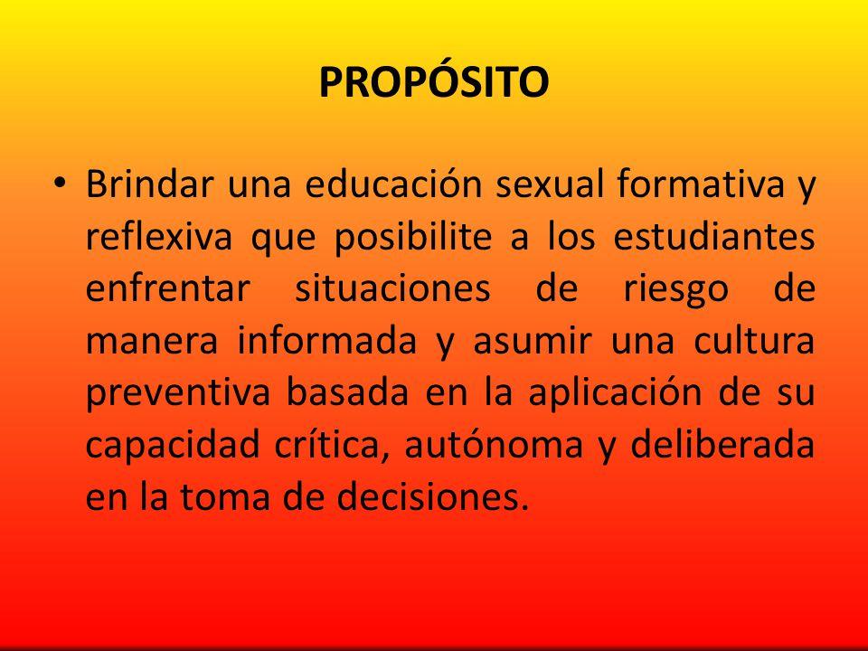 COMPETENCIAS Ejercicio pleno y responsable de la sexualidad.