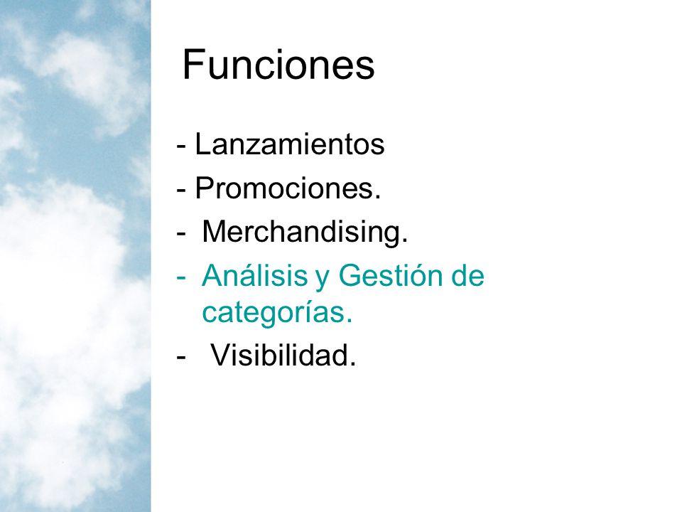 Gestión de categorías Categoría es un grupo de productos que son considerados por el consumidor final como iguales, complementarios o sustitutivos de la función que realizan o el beneficio que ofrecen.