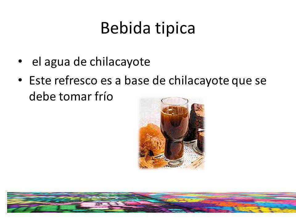 Bebida tipica el agua de chilacayote Este refresco es a base de chilacayote que se debe tomar frío