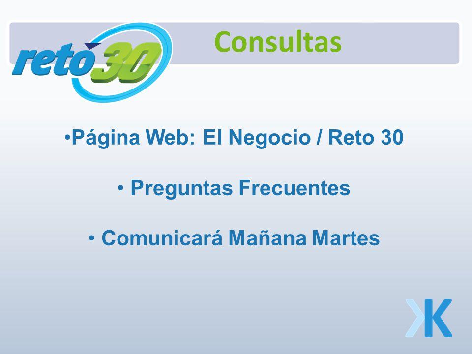 Página Web: El Negocio / Reto 30 Preguntas Frecuentes Comunicará Mañana Martes