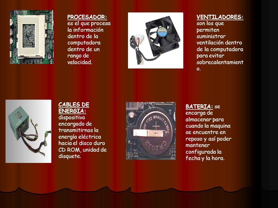 CD ROOM-CD Y DVD: es una unidad por medio del cual podemos introducir discos para almacenar información fuera de la computadora y así también instalar