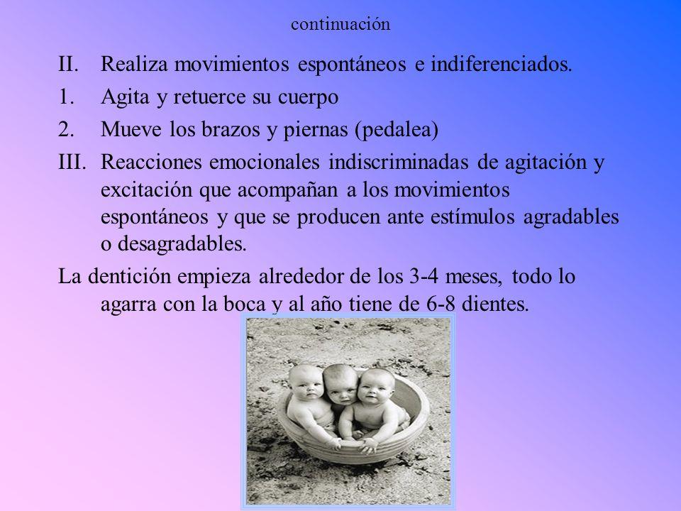 Desarrollo Físico Temprano El bebe pesa al nacer entre 6 libras a 8 libras y tiene una estatura entre 19 y 21 cm.