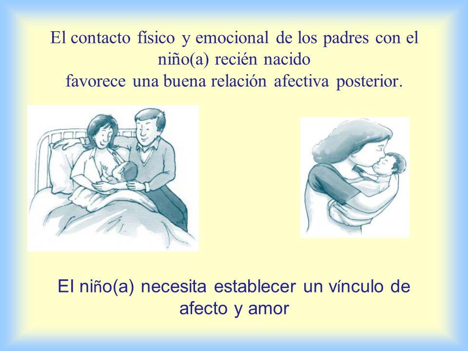El niño(a) que llega a una pareja y a una familia que lo quiere y lo espera con cariño, tiene más posibilidades de desarrollarse sano psicológica y físicamente.