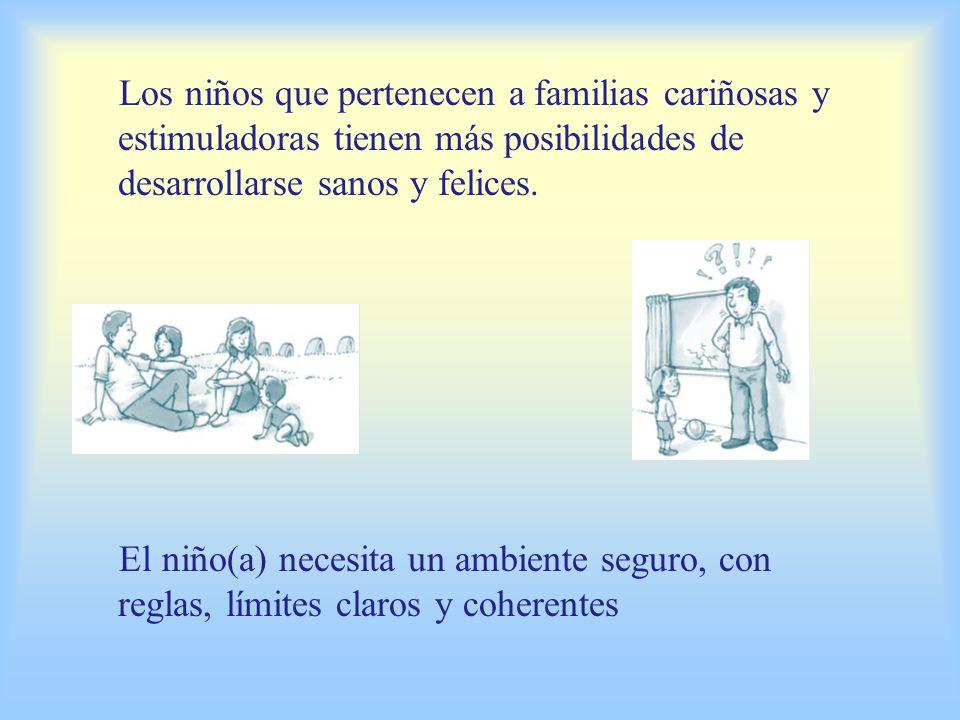En la interacción con el mundo que lo rodea, el niño(a) aprende a compartir y a ser solidario Un ambiente familiar cálido y seguro favorece el desarrollo del niño(a)