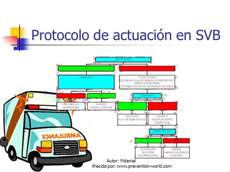 Autor: Mdaniel Descarga ofrecida por: www.prevention-world.com Protocolo de actuación en SVB