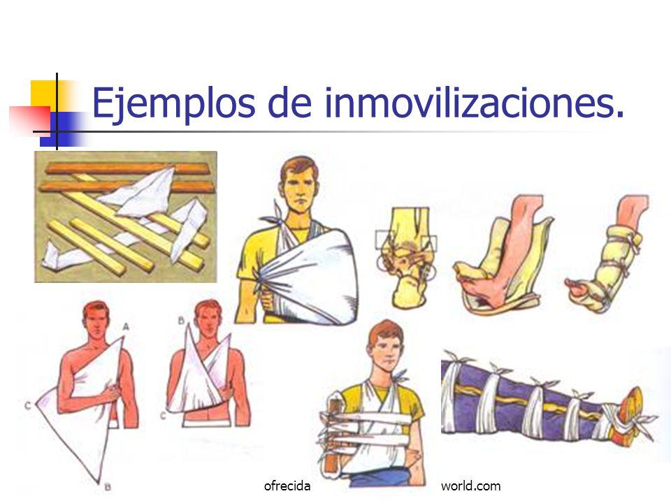 Autor: Mdaniel Descarga ofrecida por: www.prevention-world.com Ejemplos de inmovilizaciones.