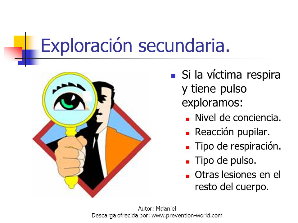 Autor: Mdaniel Descarga ofrecida por: www.prevention-world.com Posición Lateral de Seguridad.