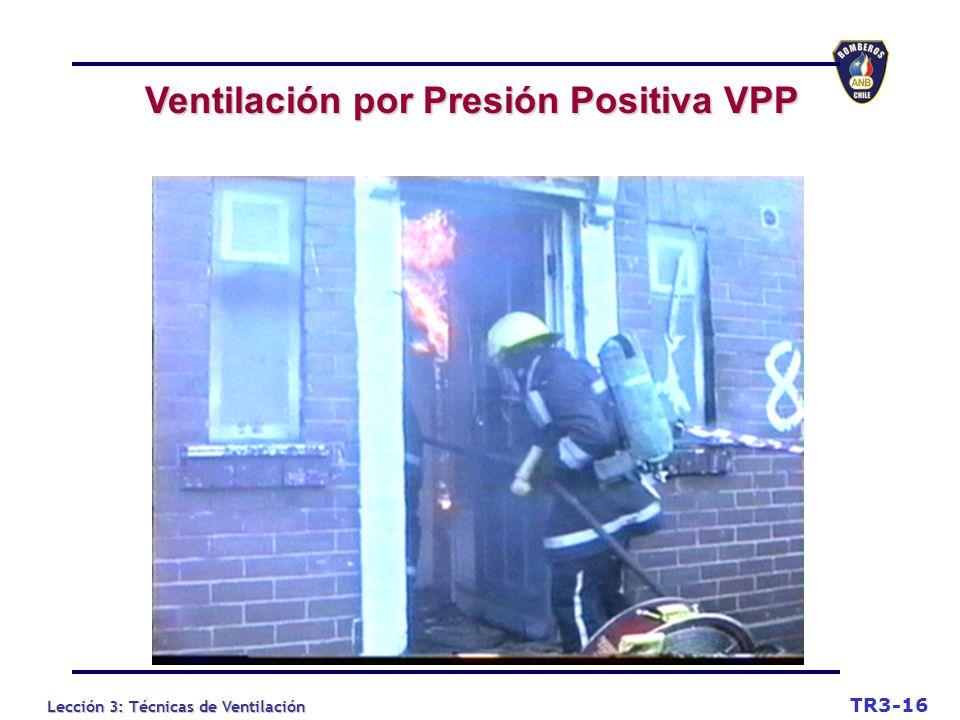 Lección 3: Técnicas de Ventilación Ventilación por Presión Positiva VPP TR3-16
