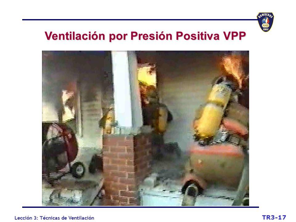 Lección 3: Técnicas de Ventilación TR3-17 Ventilación por Presión Positiva VPP