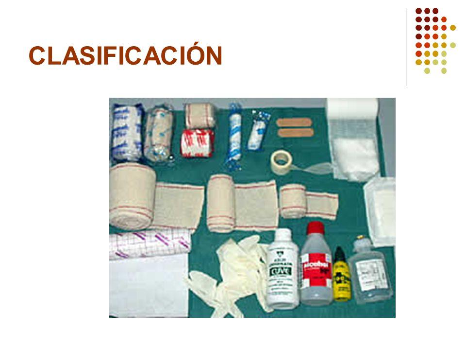 INSUMOS Antisépticos Materiales de curación Instrumental y elementos adicionales Medicamentos