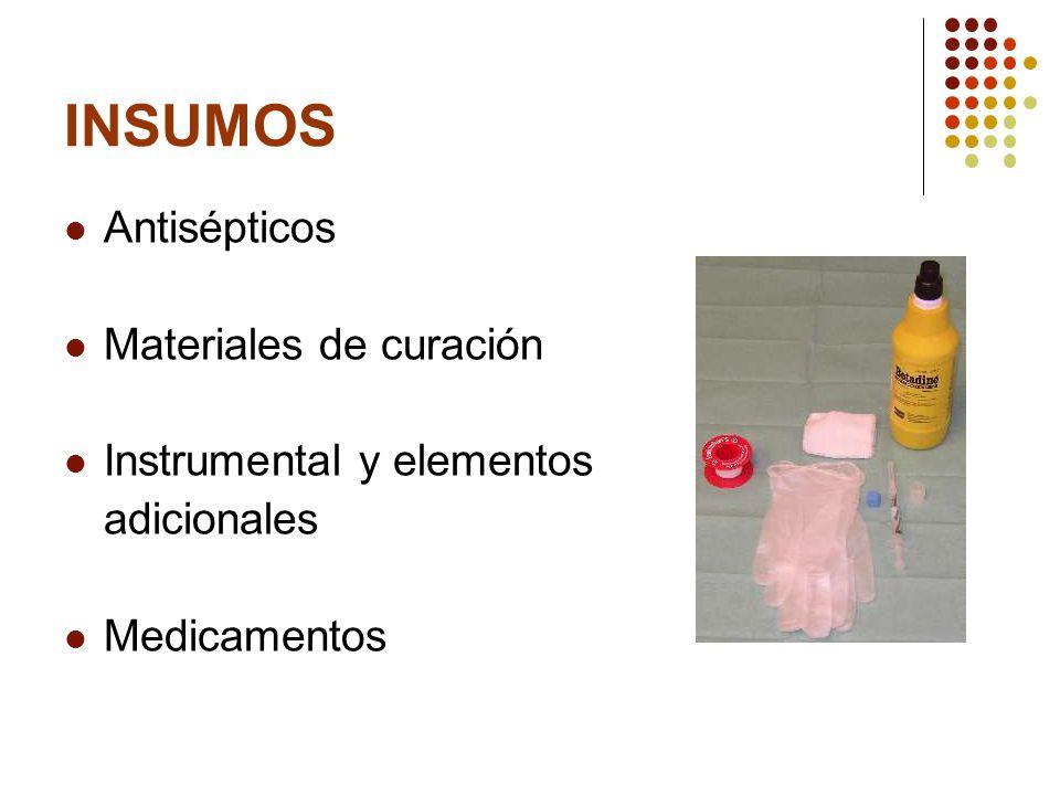 ANTISÉPTICOS Y DESINFECTANTES Prevenir infección Alcohol gel Alcohol de 70° Suero fisiológico