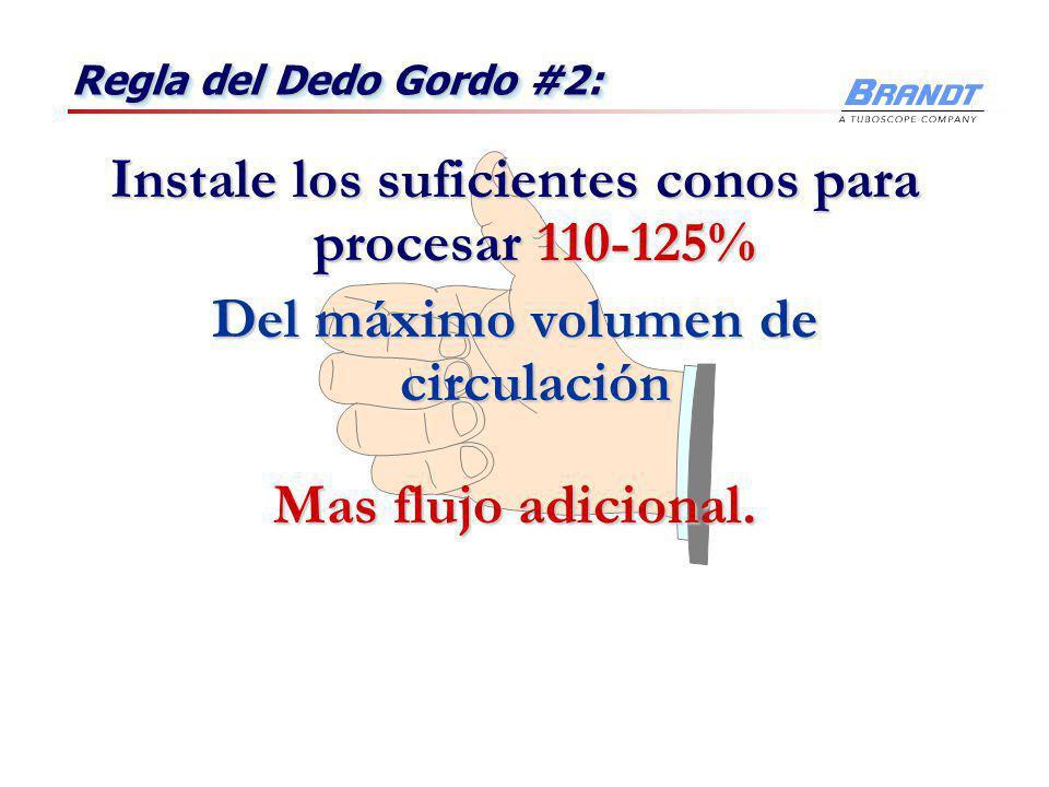 Regla del Dedo Gordo #1: Presion psi Presion psi Peso Lodo Lbs/gal. Peso Lodo Lbs/gal. 4 4 Proporcione suficiente cabeza de presión para todos los pes