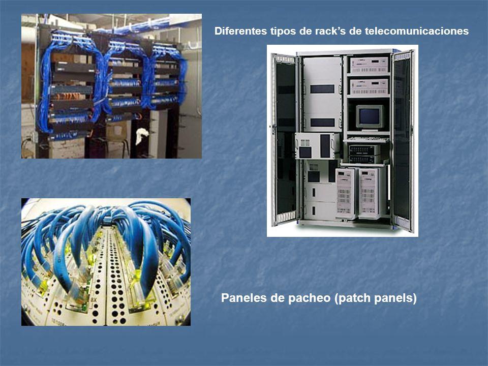 Diferentes tipos de racks de telecomunicaciones Paneles de pacheo (patch panels)
