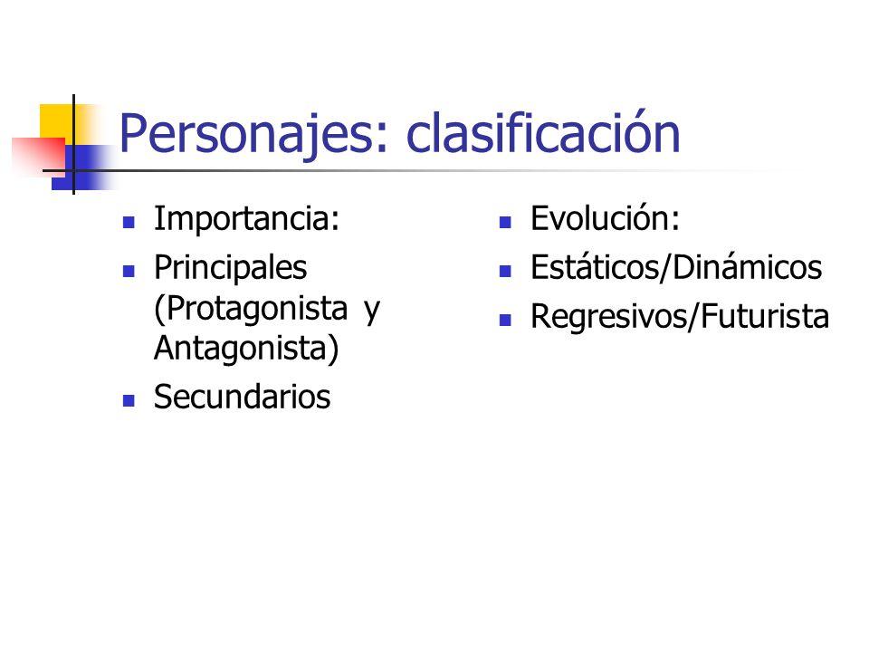 Personajes: Caracterización Física Sicológica Sociocultural