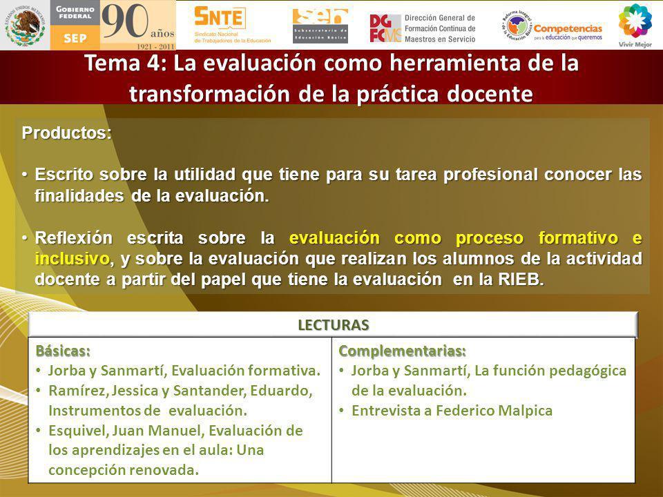 LECTURAS Subsecretaría de Educación Básica Dirección General de Formación Continua de Maestros en Servicio Titulo de diapositiva Productos: Escrito so