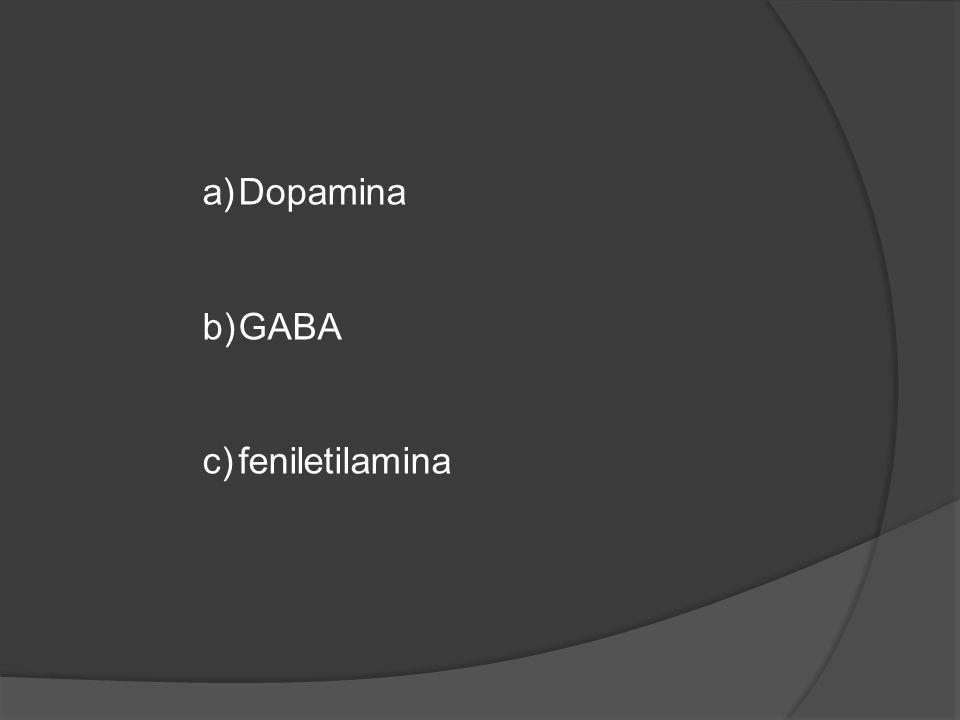 a)Dopamina b)GABA c)feniletilamina