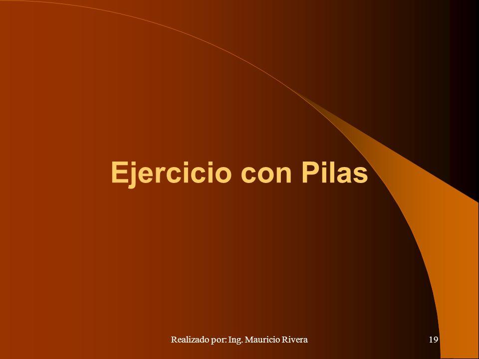 Realizado por: Ing. Mauricio Rivera19 Ejercicio con Pilas
