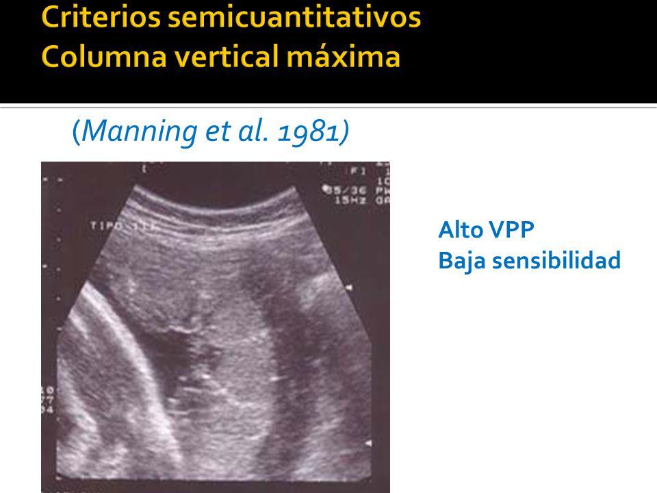 Alto VPP Baja sensibilidad (Manning et al. 1981)