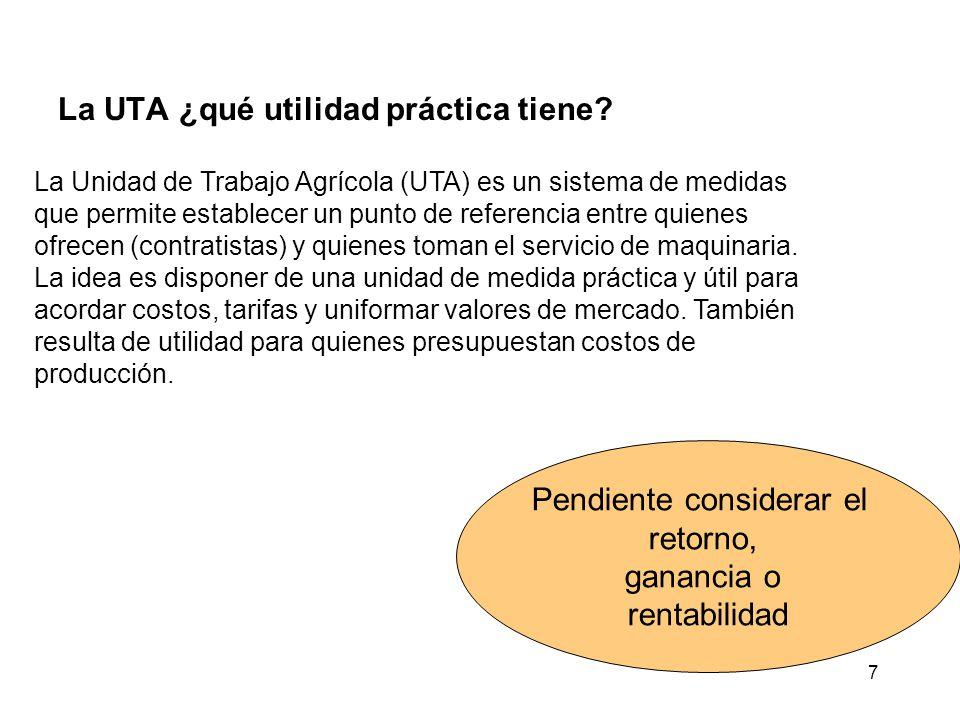 7 La UTA ¿qué utilidad práctica tiene.