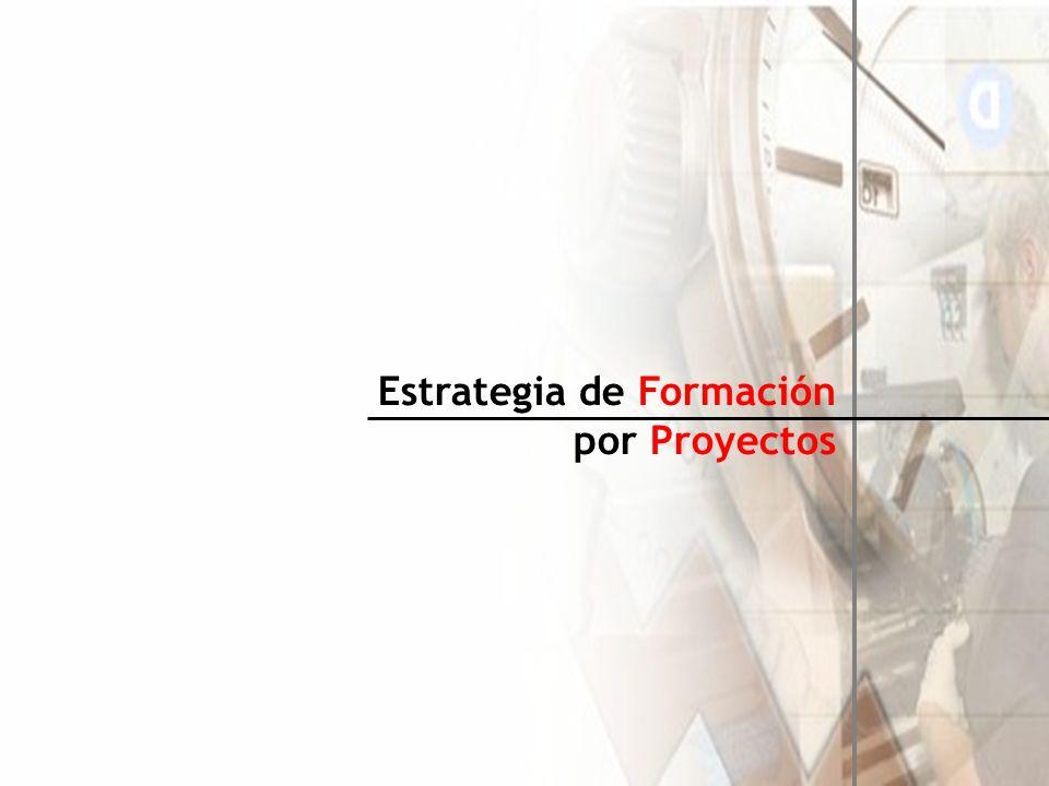 Formación por Proyectos Aclaración de Conceptos (I): La Formación por Proyectos es una estrategia que incluye diferentes Técnicas Didácticas Activas, y que permite desarrollar en el Alumno una estructura mental que le faculta para solucionar problemas de la vida real, siendo así coherente con los requerimientos y las necesidades de aprendizaje actuales, ya que incorpora también procesos como trabajo colaborativo, uso de la tecnología, énfasis en la construcción del conocimiento por parte del estudiante y aprender a aprender entre otros [1].