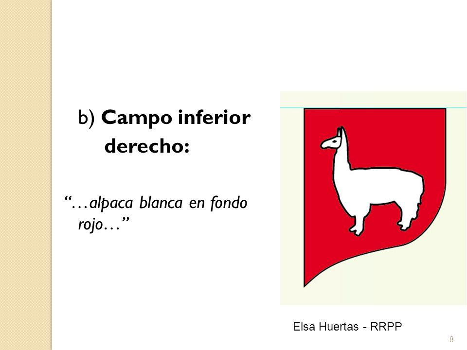 9 c) Campo inferior izquierdo: … chaquitajilla y mazorca de maíz amarillo en fondo verde… Elsa Huertas - RRPP