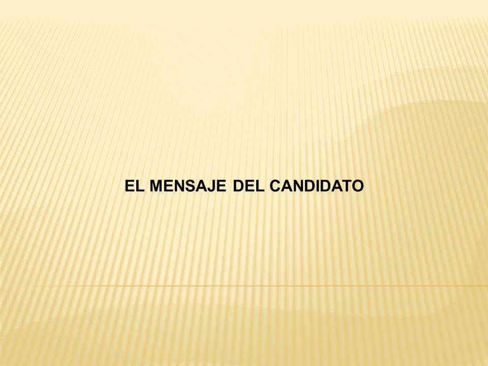 EL MENSAJE DEL CANDIDATO